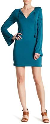 Threads 4 Thought Obelia Split Neck Long Sleeve Tee Dress
