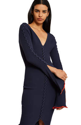 Opening Ceremony Criss Cross Long-Sleeve Dress