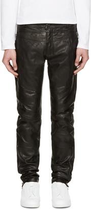 Diesel Black Gold Black Leather Biker Pants $1,495 thestylecure.com