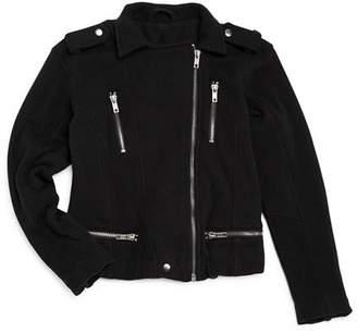 Chaser Girls' Knit Moto Jacket - Little Kid