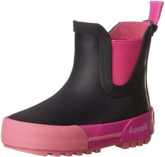 Kamik Kids' Rainplaylo Rain Boots, Navy/Magenta