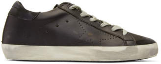 Golden Goose Black Perforated Superstar Sneakers