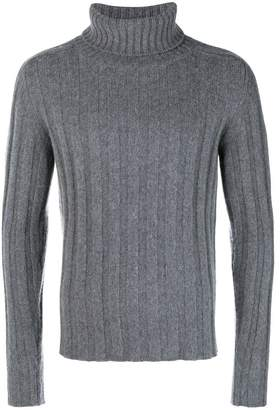 Piombo Mp Massimo ribbed turtleneck jumper