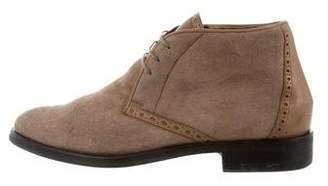 Giorgio Armani Shearling-Lined Desert Boots