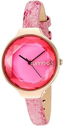RumbaTime Women's 'Orchard Gem Exotic' Quartz Stainless Steel and Leather Casual Watch