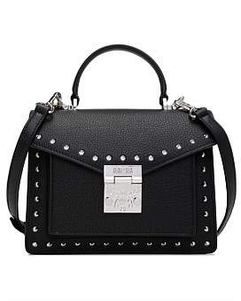 MCM Patricia Studded Outline Park Avenue Satchel Small