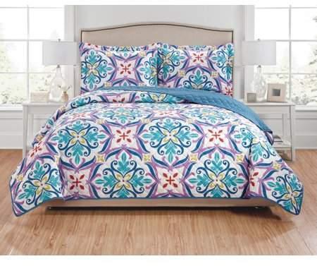 RT Designers Collection Hannah 3-Piece Reversible Quilt Set - Queen