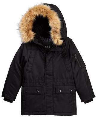 S13 Blizzard Parka Faux Fur Hooded Jacket (Big Boys)