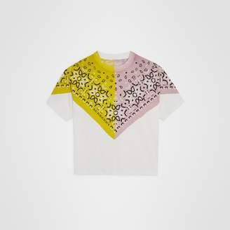 Burberry Childrens Bandana Print Cotton T-shirt