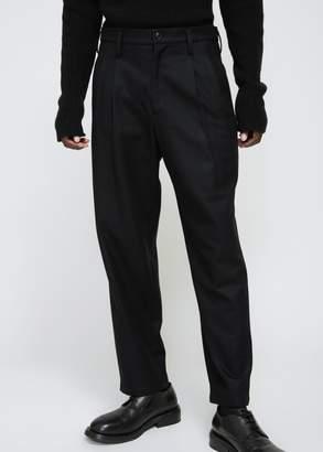 Yohji Yamamoto Flannel Tuck Slim Pant
