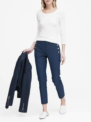 Banana Republic Petite Avery Straight-Fit Sailor Ankle Pant