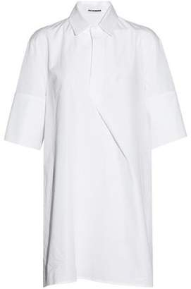 Jil Sander Oversized Pleated Cotton-Poplin Shirt