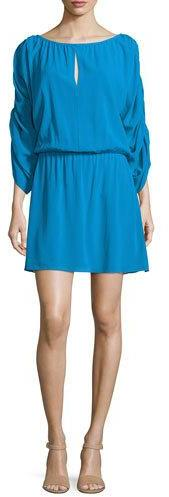 Alice + Olivia Alice + Olivia Abbey 3/4-Sleeve Blouson Dress, Blue