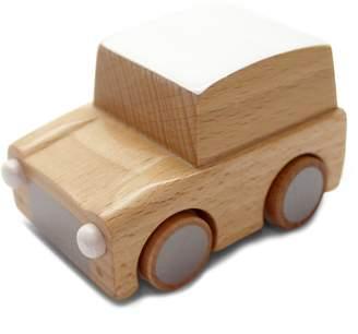 Kukkia Kuruma Wind-Up Wooden Car