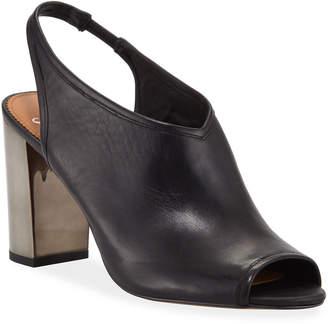 Franco Sarto Osborn Metallic-Heel Slingback Sandals