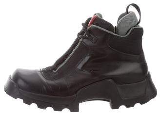 Prada Sport Square-Toe Ankle Boots