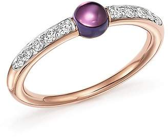 Pomellato M'Ama Non M'Ama Ring with Amethyst and Diamonds in 18K Rose Gold