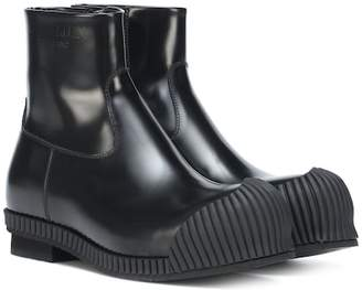 Calvin Klein Deicine patent leather ankle boots