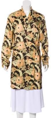 Dries Van Noten Floral Print Knee-Length Robe