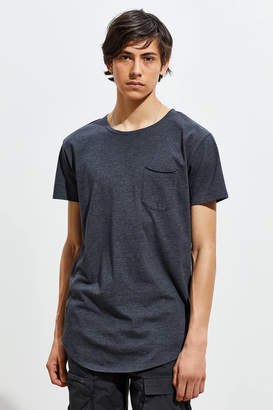Urban Outfitters Heather Scoop Neck Curved Hem Tee