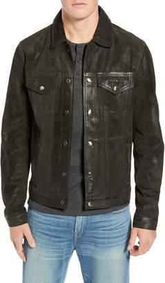 Frame Slim Fit Leather Western Jacket