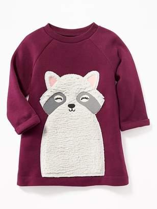 Old Navy Raccoon-Critter Sweatshirt Dress for Baby