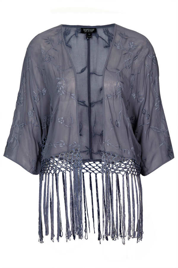 Topshop Fringe kimono