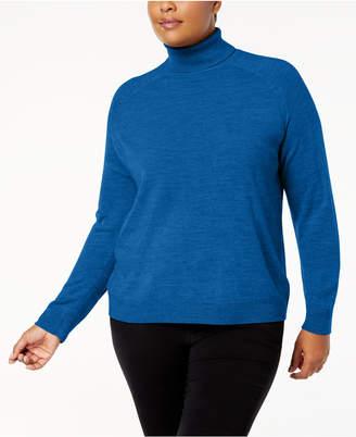 Karen Scott Plus Size Luxsoft Turtleneck Sweater