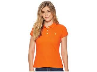 U.S. Polo Assn. Solid Pique Polo Shirt Women's Clothing