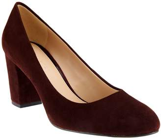 Halston H By H by Suede Block Heel Pumps - Lenna
