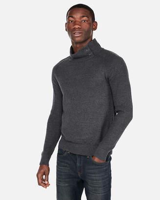 Express Button Mock Neck Sweater