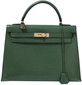 Hermes Kelly 32 leather crossbody bag