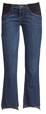 Paige Women's Riley Maternity Step Hem Medium Wash Jeans