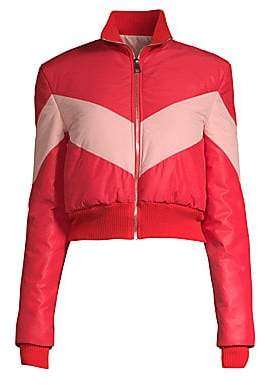 Maggie Marilyn Women's Chevron Puffer Jacket