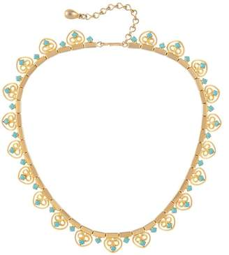 Susan Caplan Vintage 1960s Vintage Faux Turquoise Filigree Collar Necklace