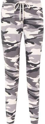Splendid Camouflage-print Stretch-jersey Track Pants - Gray