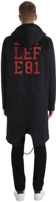 Raf Simons Patch Cotton Parka Coat W/ Nylon Bomber