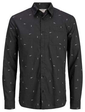 Jack and Jones Festival Long Sleeve Button-Down Shirt