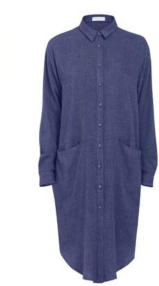 PAISIE - Shirt Dress With Side Pockets In Blue