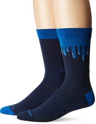 Diesel Men's Ray 2 Pack Printed Socks
