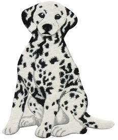 Zoomie Kids Curtis Dalmatian Dog Hand Woven Wool Black/White Area Rug Zoomie Kids
