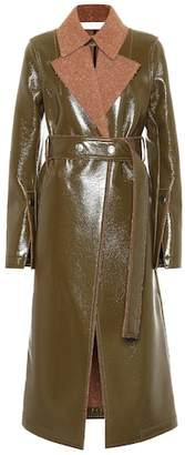 Victoria Beckham Vinyl and wool coat