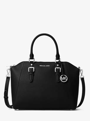 MICHAEL Michael Kors Ciara Large Saffiano Leather Satchel