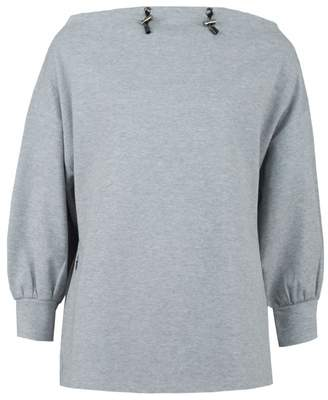 Emporio Armani Draw Neck Sweat Colour: GREY, Size: 8