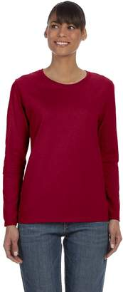Gildan G540L Ladies Missy Fit Long Sleeve T-Shirt - RED