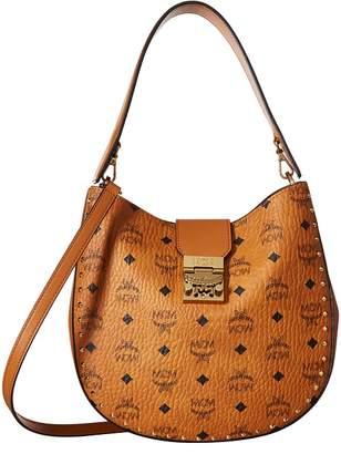 MCM Patricia Studded Outline Visetos Hobo Hobo Handbags