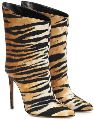 Alexandre Vauthier Exclusive to Mytheresa Alex Low printed satin ankle boots