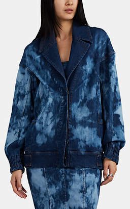 MANNING CARTELL Women's Tie-Dyed Denim Bomber Jacket - Blue