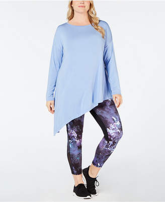 Macy's Ideology Plus Size Asymmetrical Top, Created for