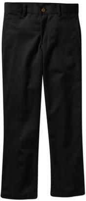 George Husky Boys School Uniform Flat Front Twill Pants With Scotchguard (Husky)